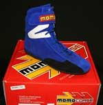 Momo RSH02 Basic Blue 3/4 Hi Top Nomex Driving Shoes Size UK43