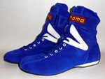 Momo RSH02 Blue Hi Top Nomex Driving Shoes Size UK44