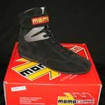 Momo RSH02 Basic Black Size UK43 3/4 Hi Top Nomex Driving Shoes