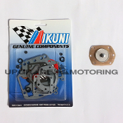 Mikuni 44 PHH Carburetor Gaskets Rebuild Kit Z70-1044 with Pump Diaphragm Package Z70-1044+PD. Genuine Mikuni parts, Made in Japan. Solex.