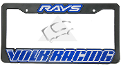 Volk Racing/Rays Engineering License Plate Frame on Sale at Upgrade Motoring!