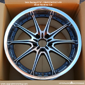 Volk Racing GT-F 19x9.5 5x114.3 +30 Matt Black Diamond Cut - Single. Two Piece wheel. Cast Center with Forged Barrel. Made by Rays Engineering. Made in Japan. Discontinued application,