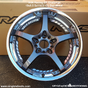 Volk Racing SF Challenge 19x8.5 5x114.3 +21 Gun Metal - Single Wheel. Only one available. Forged Two Piece Wheel. Made by Rays Engineering. Made in Japan.