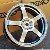 Gram Lights T57RC 18x7.5 5x114.3 +48 Silver Wheel on sale at Upgrade Motoring!
