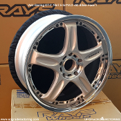 Volk Racing GT-C 18x7.5 5x114.3 +50 Silver Face 1 - Blemished wheels on Sale at Upgrade Motoring!