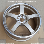 Gram Lights 57RC 18x7.5 5x114.3 +48 Champagne Gold - Single Wheel. Blemished.