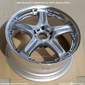 Volk Racing GT-C 18x8.0 5x114.3 +36 Mercury Silver Face 1 - Blemished - Only One wheel available. On Sale at Upgrade Motoring!