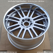 Volk Racing Forged Mag Mesh 19x10.5 5x114.3 +18D Silver. New. Forged. Made by Rays Engineering. Made in Japan. Very Rare Wheel!