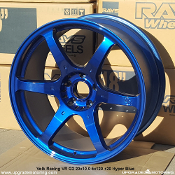 Volk Racing VR G2 20x10.0 5x120 +20 Hyper Blue Forged Wheel - Single, Display. Made by Rays Engineerring. Made in Japan.