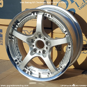 Volk Racing SF Challenge 18x8.0 5x114.3 +29(C) Silver. Single. Display, Blemished. Made by Rays Engineering. Made in Japan.