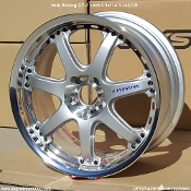 Volk Racing GT-7 18x9.0 5x114.3 +43 Silver (CR). High Type. Offset B. 56mm Lip Size. Two piece wheel - Forged Outer and Cast Center.
