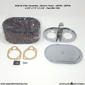 "K&N Oval Air Filter Assembly - Mikuni Solex PHH - 4.5""x7""x3.25"" #56-1350. Fits Mikuni / Solex 40PHH 44PHH Carburetors."