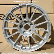 57 Motor Sport G07WT 18x9.0 5x114.3 +30 Shinning Silver Display Single wheel. Made by Rays Engineering. Made in Japan. Discontinued applications,