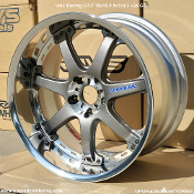 Volk Racing GT-7 19x10.5 5x114.3 +24 Gun Metal. New. Two piece wheel - Forged Outer and Cast Center