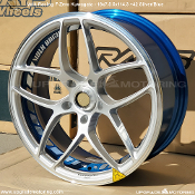 Volk Racing F-Zero Kuwagata 18x7.5 5x114.3 +42 Silver/Blue 2pc Forged Wheel on Sale at Upgrade Motoring! Rare Wheel! Made by Rays Engineering. Made in Japan.