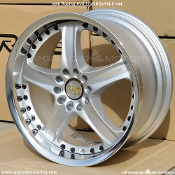 Volk Racing AV3 17x9.0 5x114.3 +44 Silver. New! Discontiuned. Single wheel only. Forged two piece wheel. Made by Rays Engineering. Made in Japan.