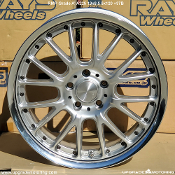 RMP Grade A A225 19x8.5 5x120 +37B Silver - Single. Discontinued item, Limited to Stock on Hand. Made by Rays Engineering. Made in Japan.