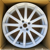 57 Motor Sport G07CR 17x7.0 4x100 +43 White Wheels on Sale at Upgrade Motoring!