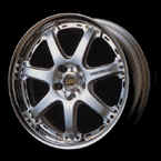 Volk Racing GT-7 18x9.0 5x114.3 +38* Silver. Display. Two piece wheel - Forged Outer and Cast Center.